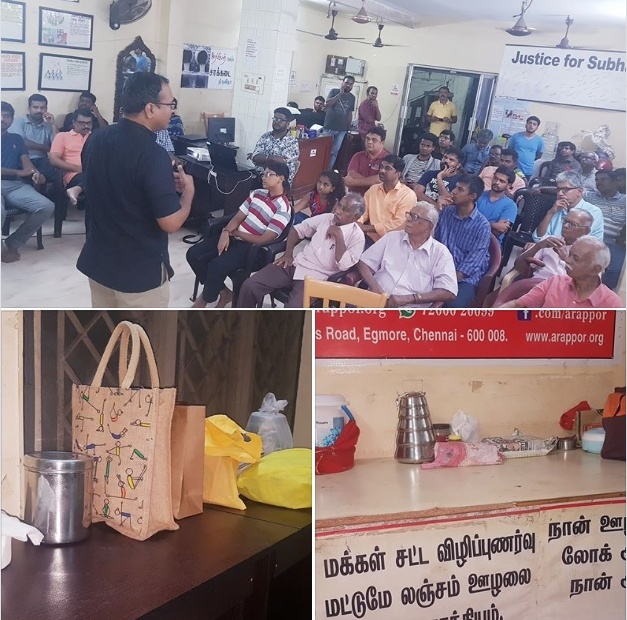 People attend Arappor's New Year PotLuck