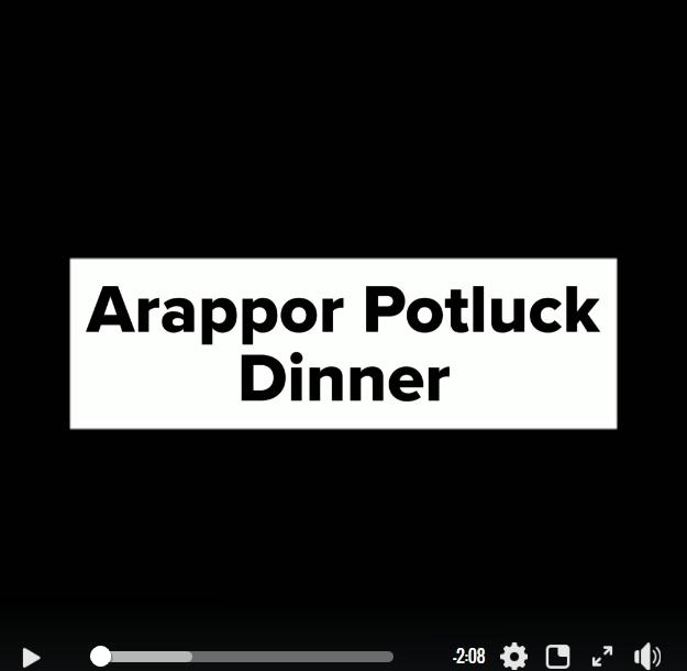 Peoples feedback during Arappor's Potluck Program